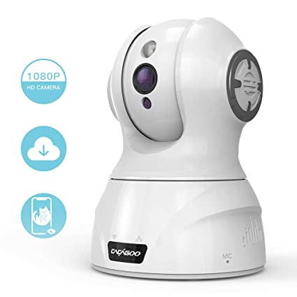 Capable 1080p Hd Network Camera Two-way Audio Wireless Network Camera Night Vision Motion Detection Camera Robot Pet Baby Monitor Video Surveillance