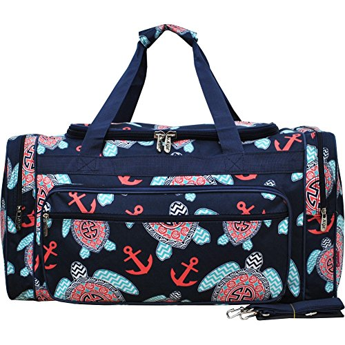 Sea Turtle Anchor Navy/Navy NGIL Canvas Carry on Shoulder 23