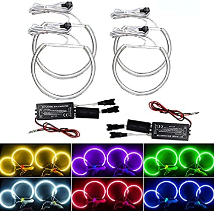 feeldo coche CCFL faros Angel Eye luz Kits de faros para BMW E46 ...