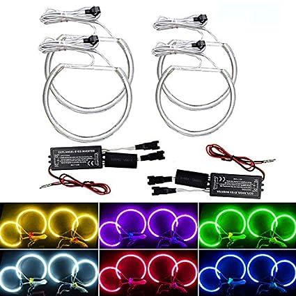 feeldo coche CCFL faros Angel Eye luz Kits de faros para BMW E46 ...