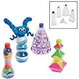 Fun Express Funny Sand Art Bottles Crafts for Kids Sand Art - 12 Pieces