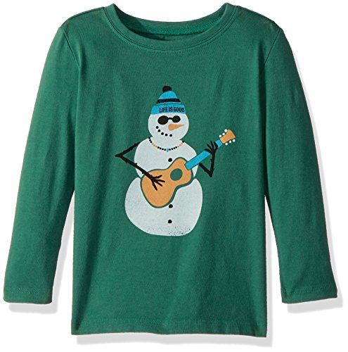 Forest Snowman - Life is good T Ls Toddler Tee Jamming' Snowman, Forest Green, 2T