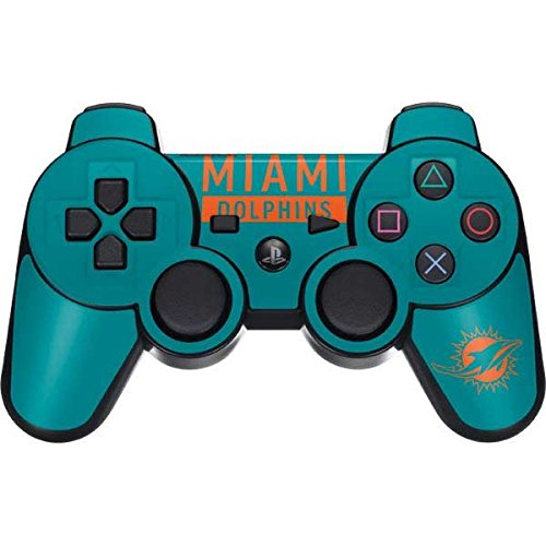 Skinit NFL Miami Dolphins PS3 Dual Shock wireless controller Skin - Miami Dolphins Teal Performance Series Design - Ultra Thin, Lightweight Vinyl Decal ()