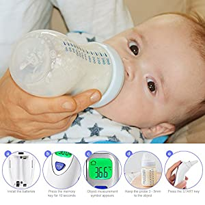 Ratighting Medical Thermometer for Fever Ear and Forehead Dual Mode with FDA and CE Approved