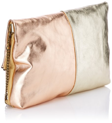 Bolso Colada Metal para Or única Dorado Or Cuivre baguette tipo les Sous color talla Blanc Beige Pina mujer Pavés talla beige SqaIwxtg