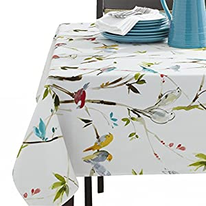 Benson Mills Spring Menagerie Indoor Outdoor Spillproof Tablecloth, 60X104 INCH