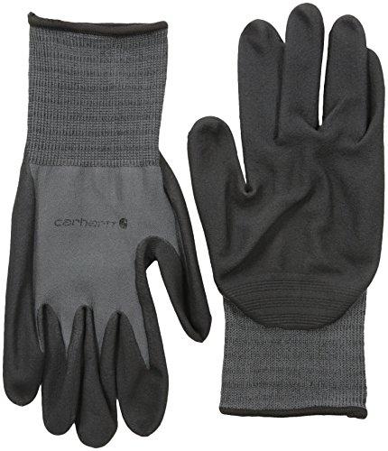 Carhartt Men's All Purpose Micro Foam Nitrile Dipped Glove, Gunmetal, (Glove Gun)