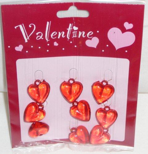 Ornament Miniature Heart - Valentine Acrylic Heart Ornaments - 9 Pc