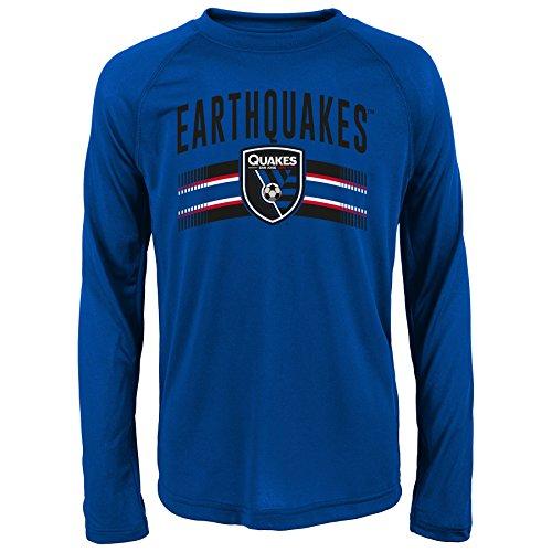 MLS San Jose Earthquakes Boys Performance Long Sleeve Tee, Small/Size 8, Master Blue
