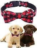 Freezx Dog Collar with Bow Tie - Adjustable 100% Cotton Nylon Design...