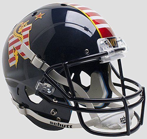 Schutt Navy Midshipmen Full XP Replica Football Helmet Dont Tread On Me - Licensed NCAA Merchandise