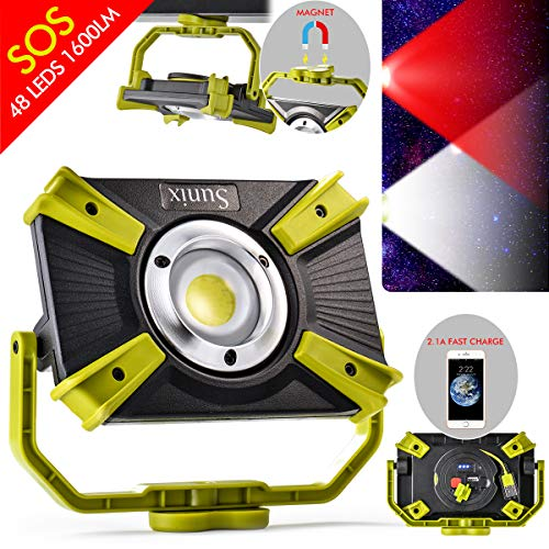 Rechargeable LED Work Light 20W 1600LM SOS Mode 2.1A Fast Charging Magnetic Base Waterproof Spotlights Outdoor Camping Emergency Floodlights For Truck Tractor Workshop Construction Site by XCSOURCE (Image #8)