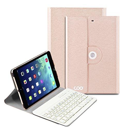 iPad mini Deutsche Bluetooth Tastatur, COO Schutzhülle-Tastatur für Apple iPad mini 123, 3in1 Tastatur gilt für IOS, Android, windows System, auch Smart cover mit automatischer Wake/sleep Funktion und Multi-Angle Ständer