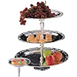 Romantica Collection Silver 3-tier Tray