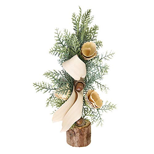 shijiazhuangxingxinjiaju Christmas Desk Decoration Mini Wood Christmas Tree Ornament Christmas Decoration Gift (C, Picture) (Home Decorations For Table)