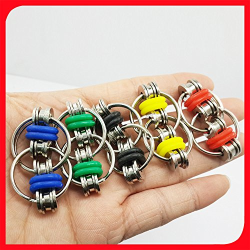 Flippy Chain Fidget Toy Stress Idle Hands Relieve Stress Reducer for Autism ADD, ADHD, Anxiety (Red) -