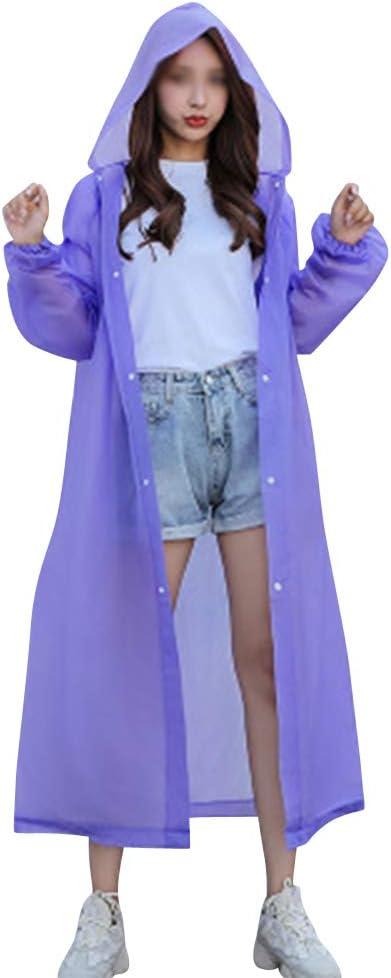 Riutilizzabili DianshaoA Durevole Eva Pioggia Cappotto di Pioggia Poncho Unisex Donne degli Uomini con Cappuccio E Maniche Portatile Pieghevole.