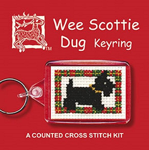 Textile Heritage Keyring Counted Cross Stitch Kit - Wee Scottie Dug