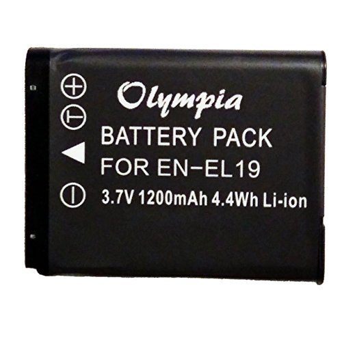 Replacement Battery for Nikon Coolpix S3500 Battery for Nikon Camera (3.7V 1200mAh Li-Ion) -
