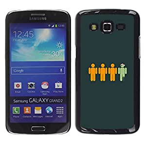 MOBMART Slim Sleek Hard Back Case Cover Armor Shell FOR Samsung Galaxy Grand 2 - Funny Pirate