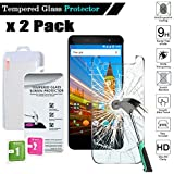 FINDING CASE 2 Pack Screen Protector For Wileyfox Swift 2 X Premium Tempered Glass Film Cover, 0.33mm HD 9H Hardness 2.5D (Easy Installation Frame)