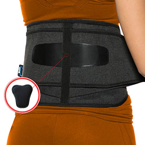 MODVEL Lower Back Lumbar Support Brace for Men & Women   FDA Approved   Breathable Fabric with Lumbar Pad   Relieving Back Pain   Great for Employees at Work, Desk Jobs, Standing Jobs (MV-119)