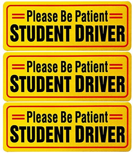 RuBao Student Driver Sign, Reflective Student Driver Magnets for Car (New Student Driver)