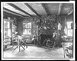 Photo: Noon meditations,Slabsides,furniture,interiors,John Burroughs,New York,NY,c1901
