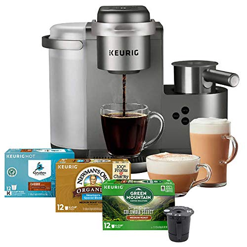 Keurig K-Cafe C Single Serve K-Cup Pod Coffee, Latte and Cappuccino Maker, Nickel