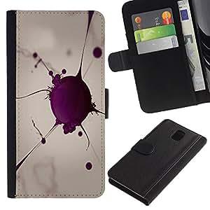 Billetera de Cuero Caso Titular de la tarjeta Carcasa Funda para Samsung Galaxy Note 3 III N9000 N9002 N9005 / Blood Cell / STRONG
