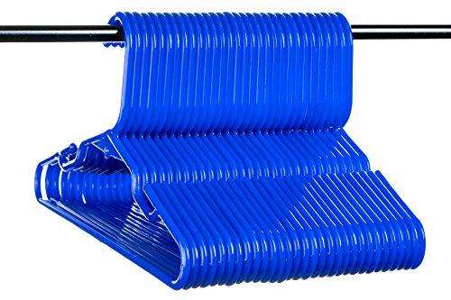 Neaties USA Made Children's Small Blue Plastic Hangers, 30pk]()