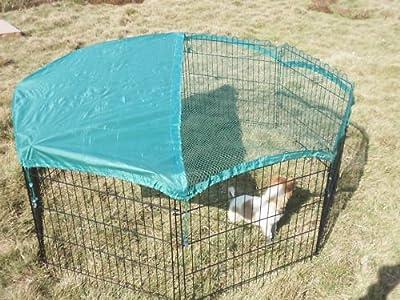 """8 Panel 24"""" Pet Playpen w/Door & Cover Rabbit Enclosure"""