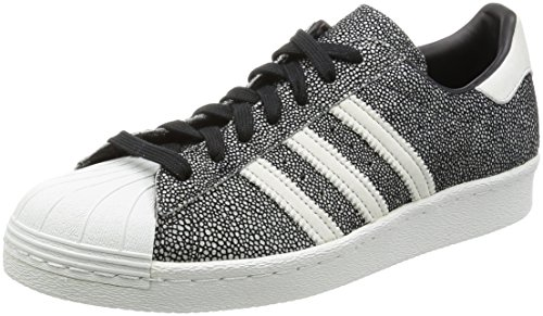 Adidas Originals Mens Originelen Superster 80s Trainers Kern Us9 Zwart