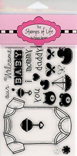 Baby Stamps for Card-Making and Scrapbooking by The Stamps of Life - Onesie4Baby