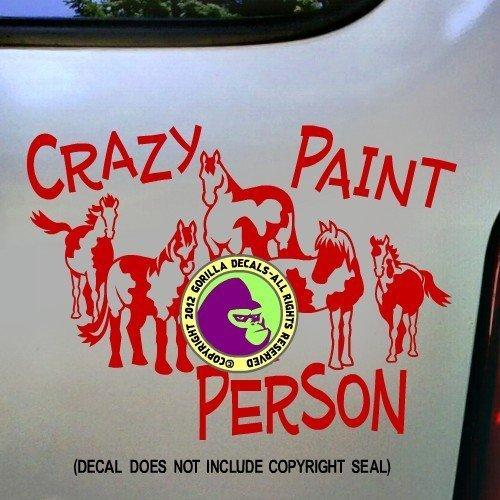 CRAZY PAINT PERSON Horses Vinyl Decal Sticker D