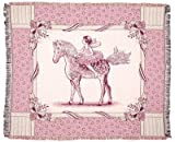 Fairy Tale Pony ECO2 Cotton Throw Blanket Pink
