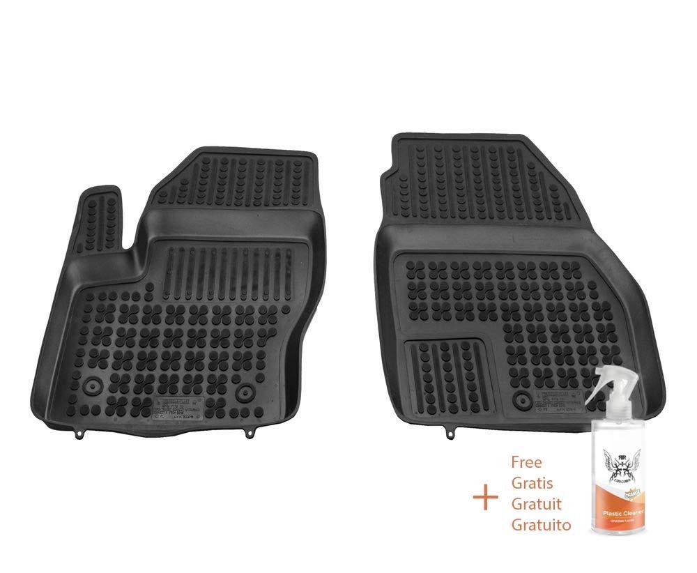 + Limpiador de Plasticos Regalo Alfombrillas de Goma Compatible con Ford Transit Connect II Desde 2013 Delanteras