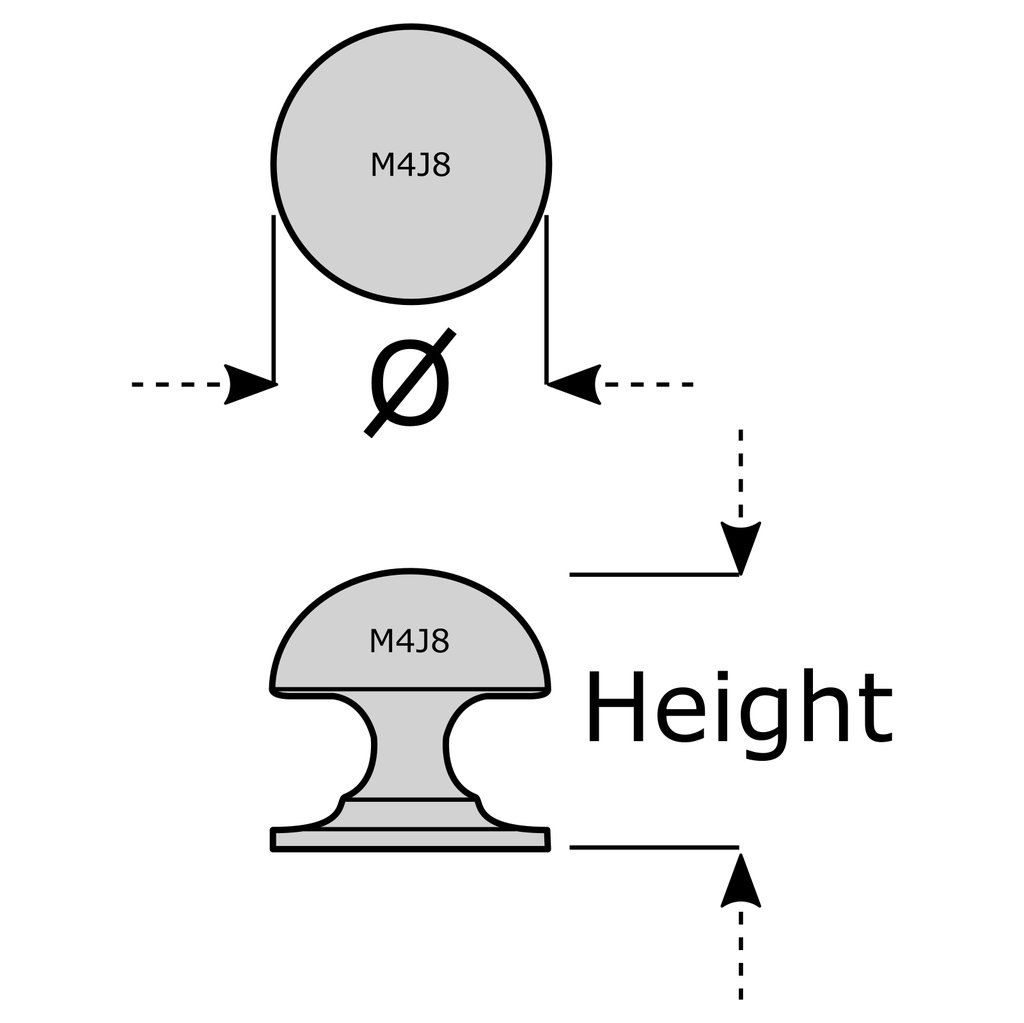 31 mm M4TEC M/öbelknopf M/öbelgriff Schubladengriff Knopfgriff Schlafzimmer K/üchenschrank Nickel Poliert J8 Serie