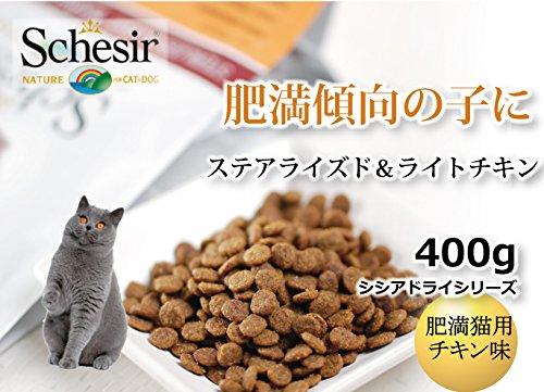 Schesir pienso Gato 400 gr sterelizado Pollo: Amazon.es: Productos para mascotas