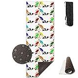 KIOT156 Wrestling Wrestlers Yoga Mat Cute Yoga Towel Exercise Mat Non-slip High Density