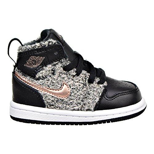 Bronze Baby Shoe (Jordan 1 Retro High GT Toddler's Shoes Black/Metallic Bronze/White 705324-022 (6 M US))