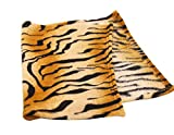 Freerun Coral Fleece Blanket, Warm and Soft All Seasons Blanket, Micro Plush Blanket, Tiger Print Pattern (L)
