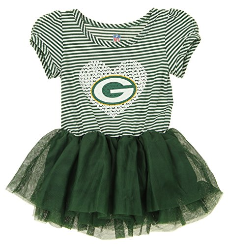 NFL Girl's Infant and Toddlers Celebration Sequin Tutu, Green Bay Packers 24 Months