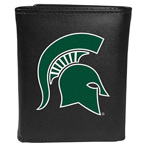 Siskiyou Sports NCAA Michigan State Spartans Tri-fold Wallet Large Logo, Black