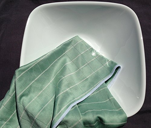 Angelgear Bamboo Microfiber Kitchen Dish Towels, Super Absorbent, Anti-Bacterial, Large 24'' x 16'' Inch 6 Pack Set!, Eco-Friendly, Quick Drying, All Purpose Household Cleaning, NO Lint, NO Streaks by Angelgear (Image #7)