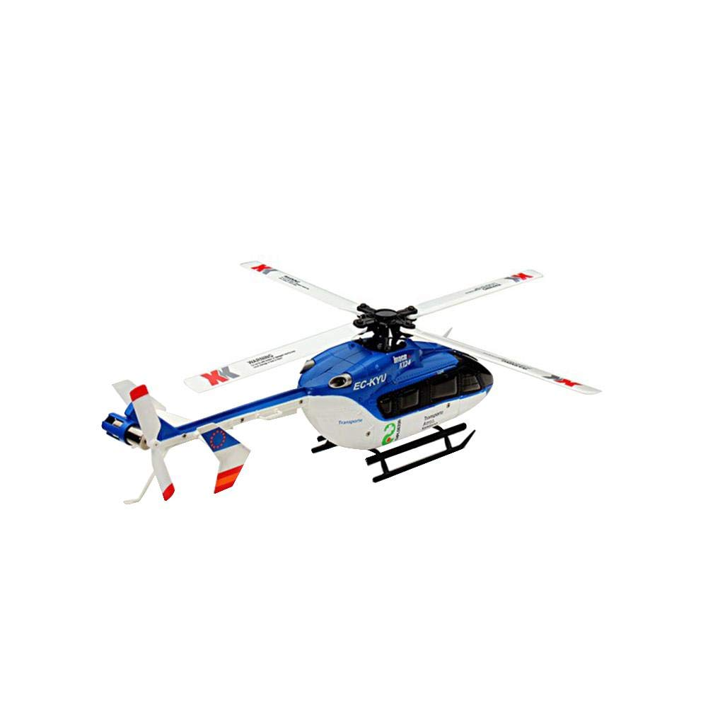 Luckycyc Children Remote Control Helicopter Toy, 2.4G XK K124 6CH Brushless EC145 3D6G System RC Helicopter RTF by Luckycyc (Image #6)