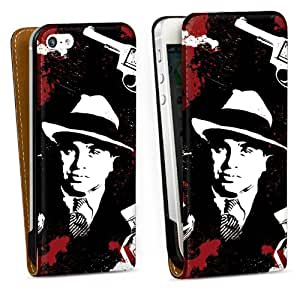 Diseño para Apple iPhone 5 DesignTasche Downflip black - Mafia Boss