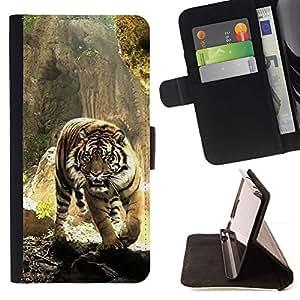 Momo Phone Case / Flip Funda de Cuero Case Cover - Tigre Feroz - Apple Iphone 6 PLUS 5.5