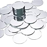 Craft Mirror - 60-Pack Mini Mirror Circles, Glass Mosaic Tile Pieces for Home Decor, DIY Craft Projects, 2-Inch Diameter