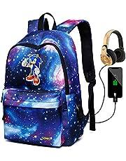 Sonic Anime Rugzak Leuke Cartoon Printing Multi-Pocket Boekentas Grote Capaciteit Student Schooltas met USB Opladen Poort